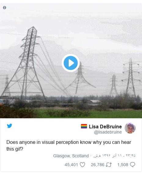 پست توییتر از @lisadebruine: Does anyone in visual perception know why you can hear this gif?