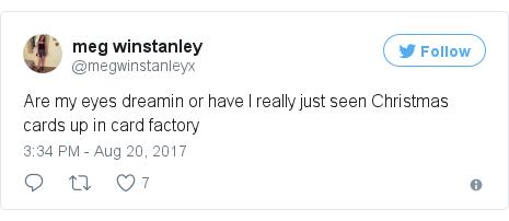 Twitter post by @megwinstanleyx