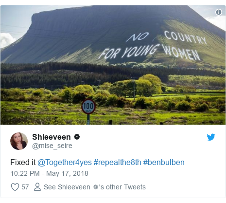 Twitter post by @mise_seire: Fixed it @Together4yes #repealthe8th #benbulben