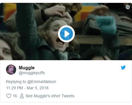Twitter post by @mugglepuffs: