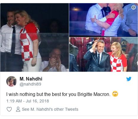 Twitter wallafa daga @nahdhi89: I wish nothing but the best for you Brigitte Macron. 🙄