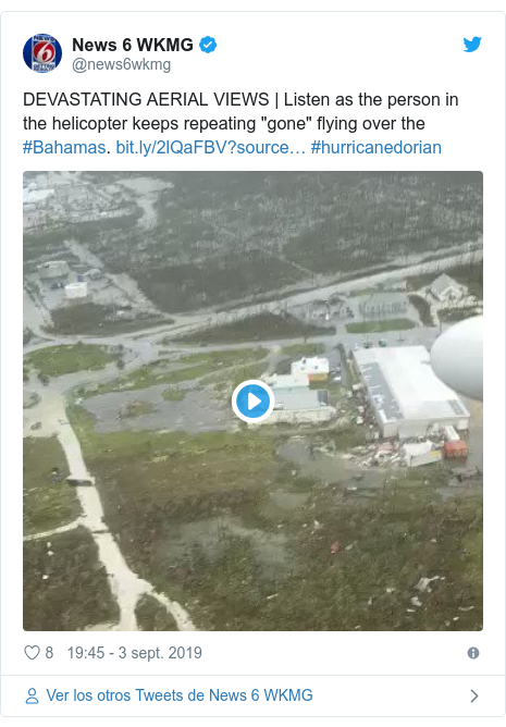 """Publicación de Twitter por @news6wkmg: DEVASTATING AERIAL VIEWS 