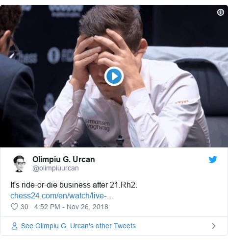 Twitter post by @olimpiuurcan: It's ride-or-die business after 21.Rh2.