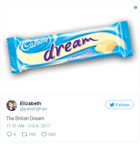 Twitter post by @passingtrain: The British Dream pic.twitter.com/Q72w38dWtM