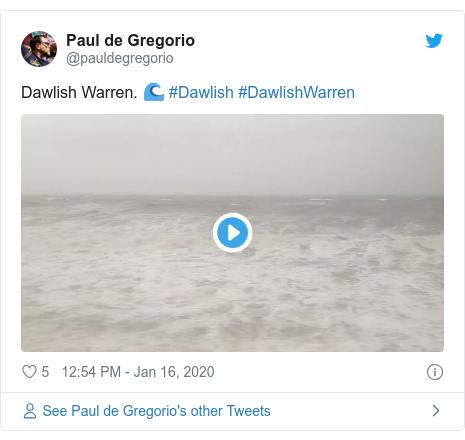 Twitter post by @pauldegregorio: Dawlish Warren. 🌊 #Dawlish #DawlishWarren