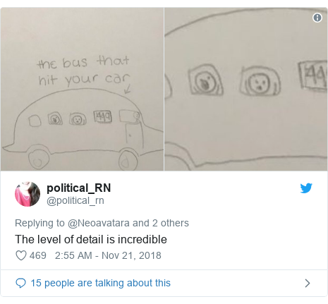 Twitter post by @political_rn: The level of detail is incredible