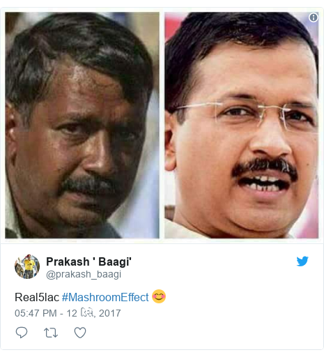 Twitter post by @prakash_baagi: Real5lac #MashroomEffect 😊