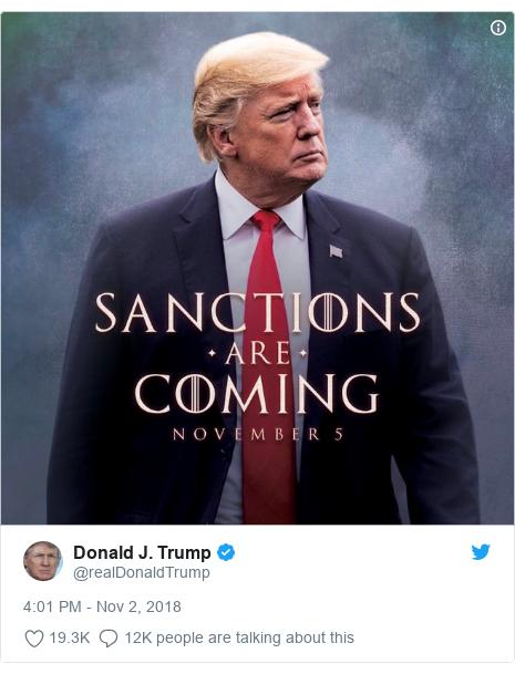 Twitter post by @realDonaldTrump: