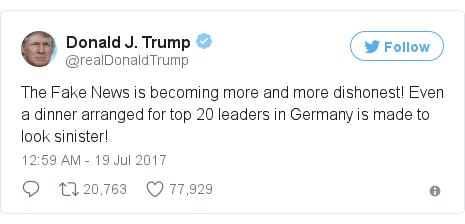 Twitter post by @realDonaldTrump