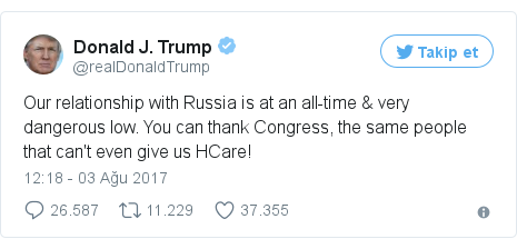 @realDonaldTrump tarafından yapılan Twitter paylaşımı