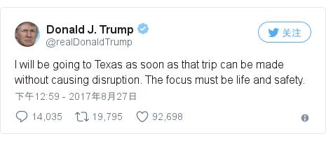 Twitter 用户名 @realDonaldTrump