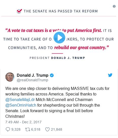 Reality Check: Will Republican Tax Plan Hurt Trump?