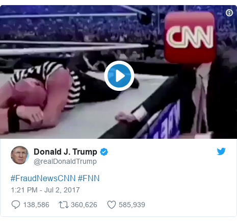 Twitter post by @realDonaldTrump: #FraudNewsCNN #FNN