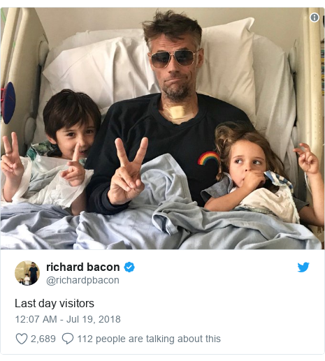 Twitter post by @richardpbacon: Last day visitors