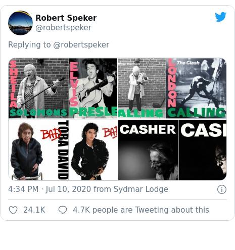 Twitter post by @robertspeker: