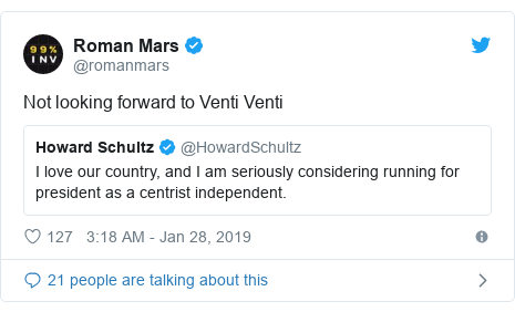 Twitter post by @romanmars: Not looking forward to Venti Venti