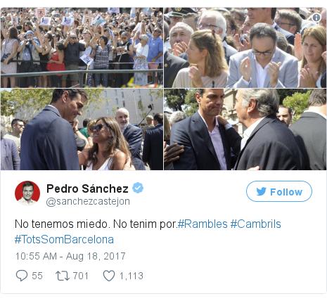 Twitter post by @sanchezcastejon