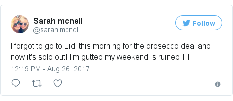 Twitter post by @sarahlmcneil