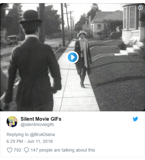 Twitter post by @silentmoviegifs: