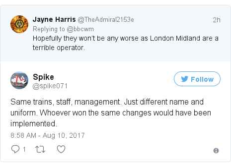 Twitter post by @spike071