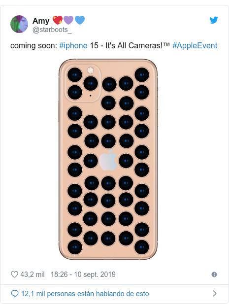 Publicación de Twitter por @starboots_: coming soon  #iphone 15 - It's All Cameras!™ #AppleEvent