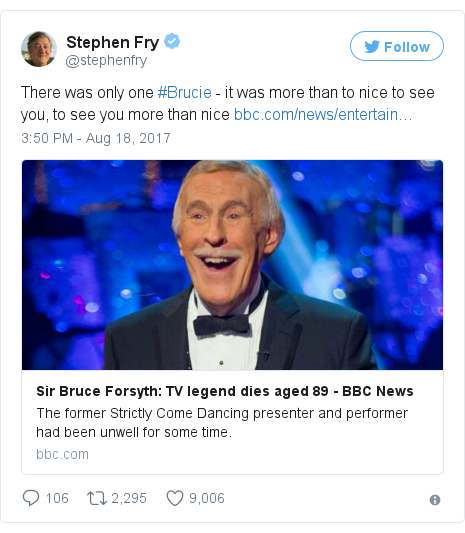 Twitter post by @stephenfry