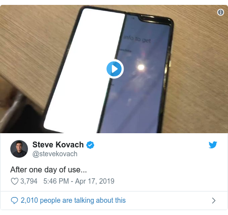 Twitter post by @stevekovach: After one day of use...