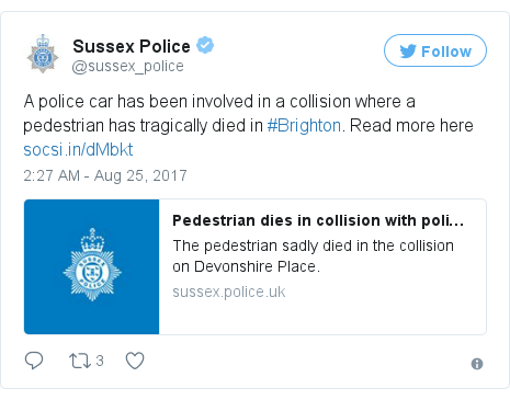 Twitter post by @sussex_police