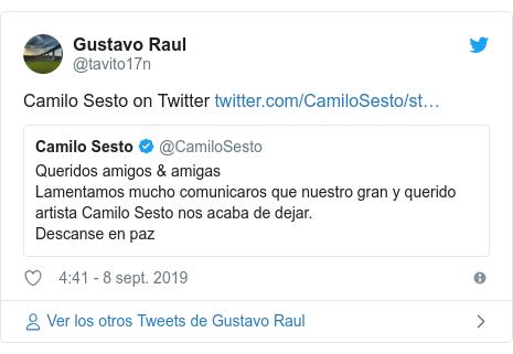 Publicación de Twitter por @tavito17n: Camilo Sesto on Twitter
