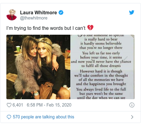 Twitter post by @thewhitmore: I'm trying to find the words but I can't 💔