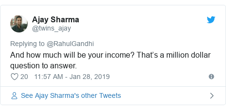 Twitter post by @twins_ajay: And how much will be your income? That's a million dollar question to answer.