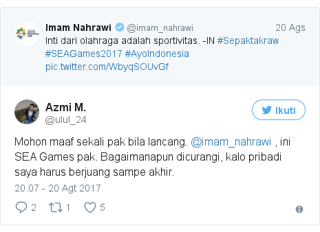 Twitter pesan oleh @ulul_24