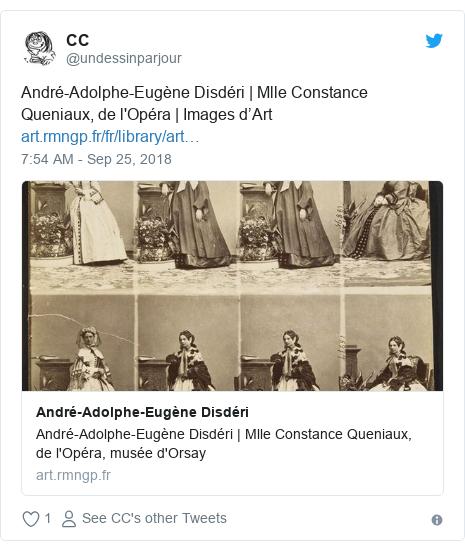 Twitter post by @undessinparjour: André-Adolphe-Eugène Disdéri | Mlle Constance Queniaux, de l'Opéra | Images d'Art