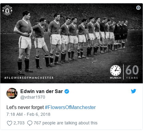 Twitter post by @vdsar1970: Let's never forget #FlowersOfManchester