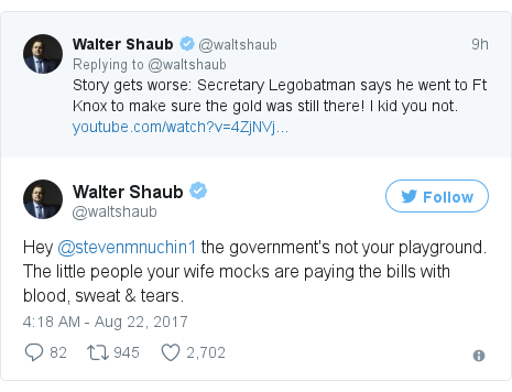 Twitter post by @waltshaub