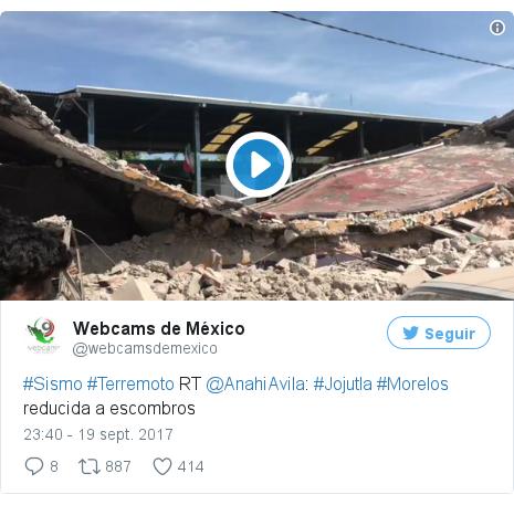 Publicación de Twitter por @webcamsdemexico: #Sismo #Terremoto RT @AnahiAvila  #Jojutla #Morelos reducida a escombros pic.twitter.com/cBcNqn1qWv