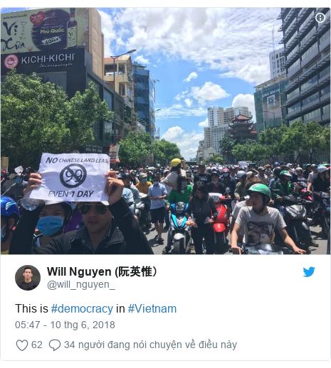 Twitter bởi @will_nguyen_: This is #democracy in #Vietnam