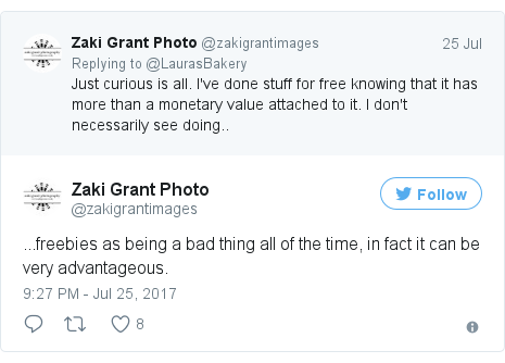 Twitter post by @zakigrantimages