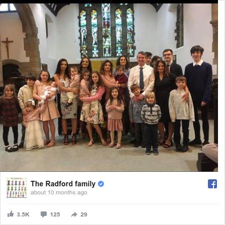 Facebook пост, автор: The Radford family: