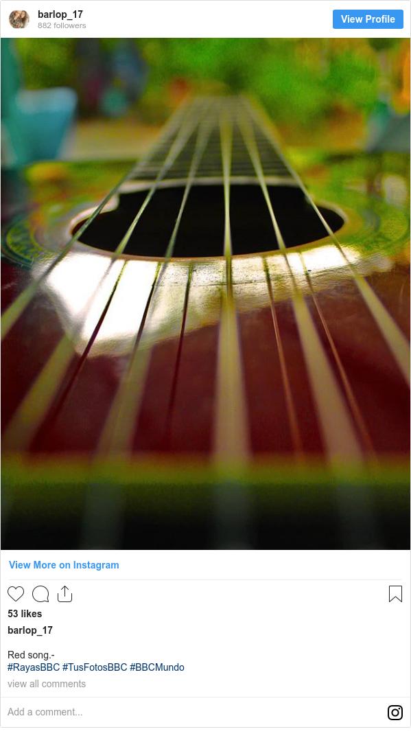 Publicación de Instagram por barlop_17: Red song.- #RayasBBC #TusFotosBBC #BBCMundo