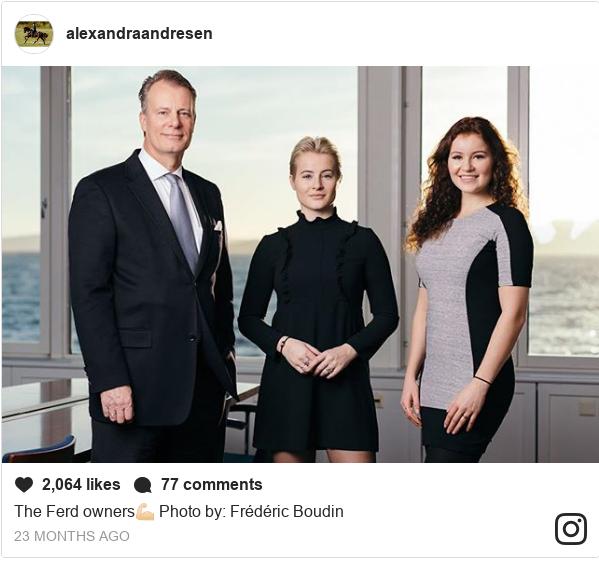 Publicación de Instagram por alexandraandresen: The Ferd owners💪🏻   Photo by  Frédéric Boudin