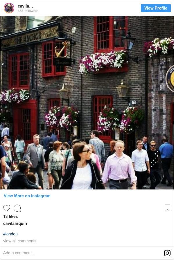 Publicación de Instagram por cavilaarquin: #london