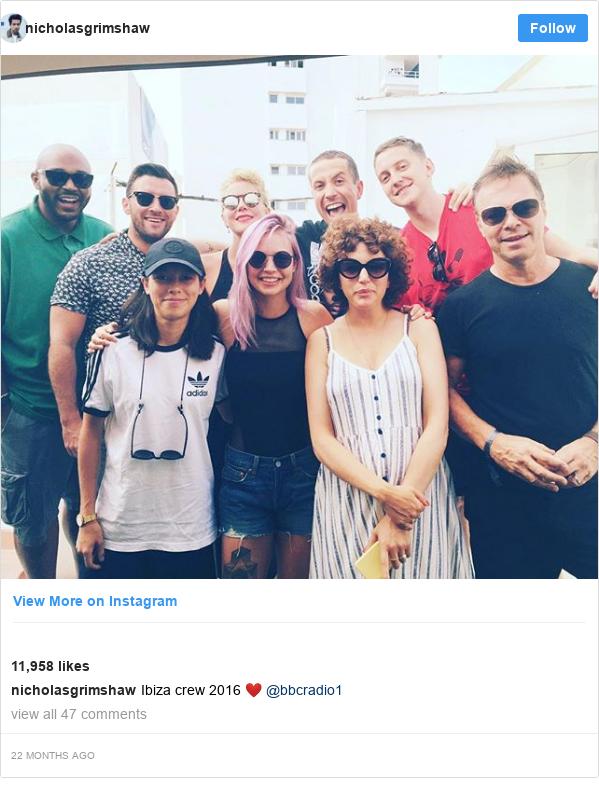 Instagram post by nicholasgrimshaw: Ibiza crew 2016 ❤️ @bbcradio1