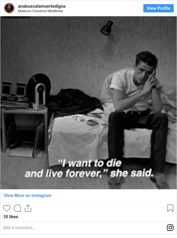 Publicación de Instagram por anabuscalamuertedigna: