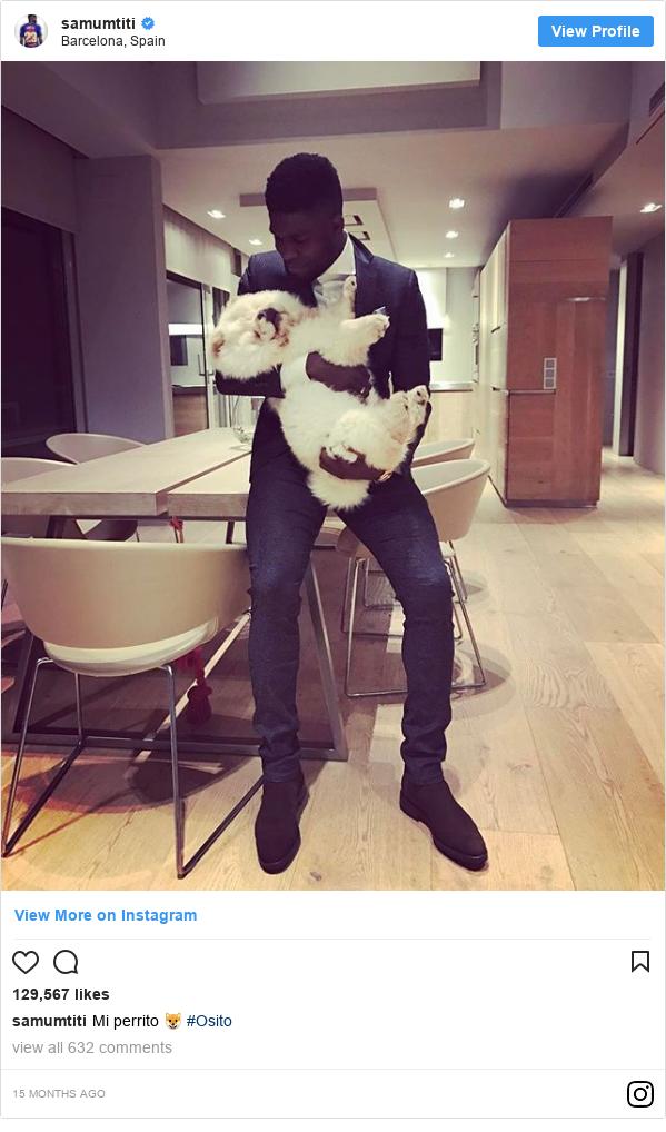 Instagram ubutumwa bwa samumtiti: Mi perrito 🐶 #Osito