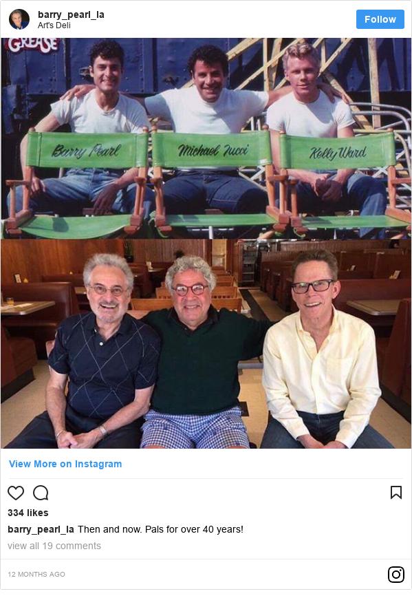 Publicación de Instagram por barry_pearl_la: Then and now. Pals for over 40 years!