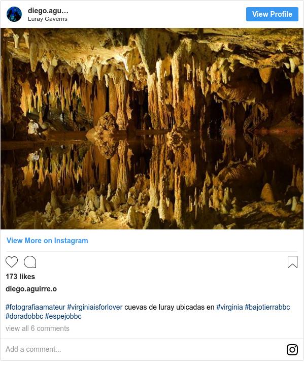 Publicación de Instagram por diego.armando.aguirre: #fotografiaamateur #virginiaisforlover cuevas de luray ubicadas en #virginia #bajotierrabbc #doradobbc #espejobbc