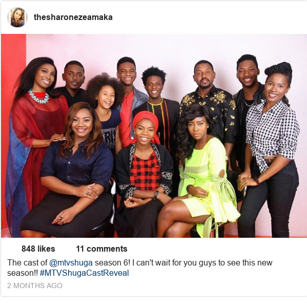 Instagram post by thesharonezeamaka: The cast of @mtvshuga season 6! I can't wait for you guys to see this new season!! #MTVShugaCastReveal