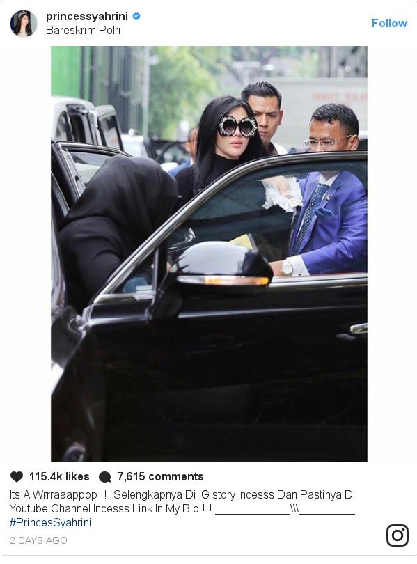 Instagram pesan oleh princessyahrini: Its A Wrrraaapppp !!! Selengkapnya Di IG story Incesss Dan Pastinya Di Youtube Channel Incesss Link In My Bio !!! ____________\\\_________  #PrincesSyahrini