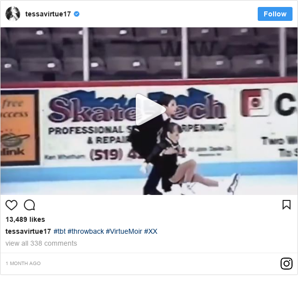 Instagram post by tessavirtue17: #tbt #throwback #VirtueMoir #XX
